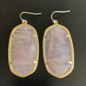 Kendra Scott Danielle Rose Gold Earrings Like New